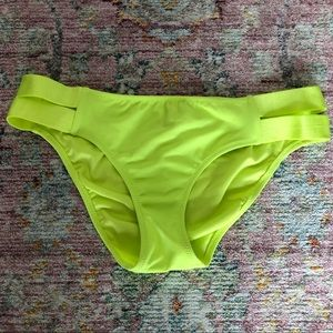 Victoria's Secret Neon Yellow Bikini Bottom